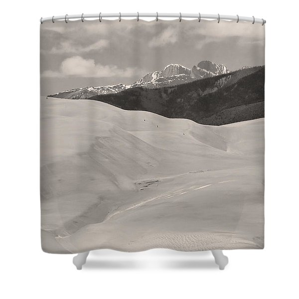 The Great Sand Dunes  BW Sepia Shower Curtain by James BO  Insogna