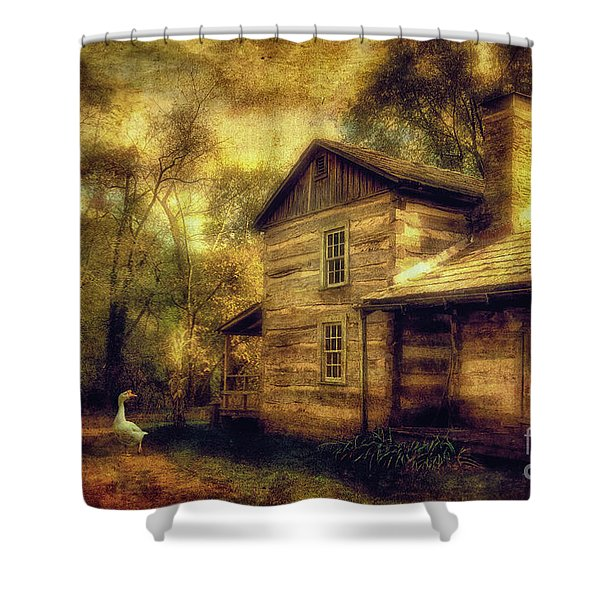 The Guardian Shower Curtain by Lois Bryan