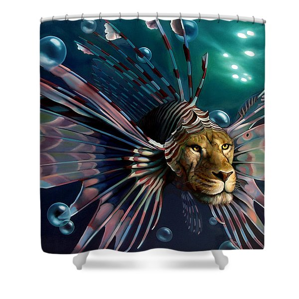 THE GUARDIAN Shower Curtain by Patrick Anthony Pierson