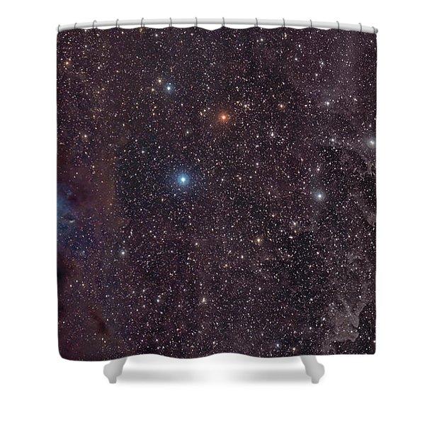 The Iris Nebula In Cepheus Shower Curtain by John Davis