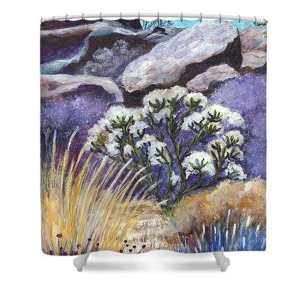 The Joshua Tree Shower Curtain by Carol Wisniewski