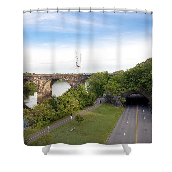 The Kelly Drive Rock Tunnel Shower Curtain by Bill Cannon