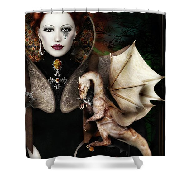 The Last Dragon Shower Curtain by Shanina Conway