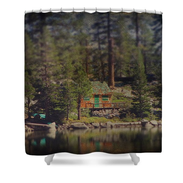 The Little Cabin Shower Curtain by Laurie Search
