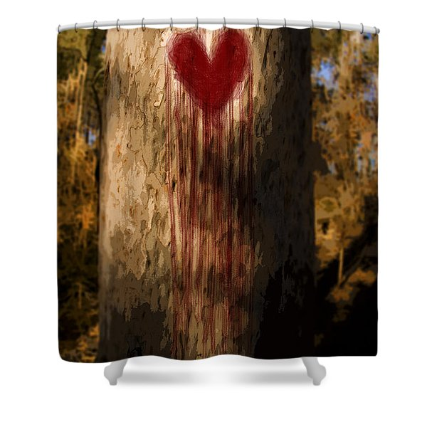 The Lonely Tree Shower Curtain by Ryan Jorgensen