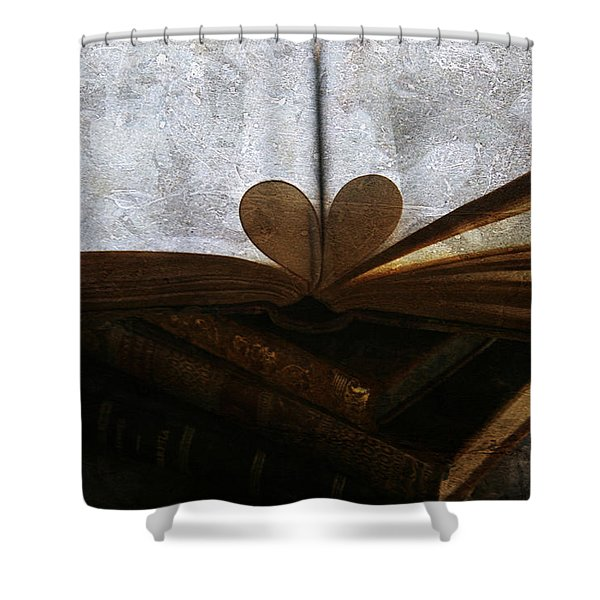 The Love of a Book Shower Curtain by Georgia Fowler