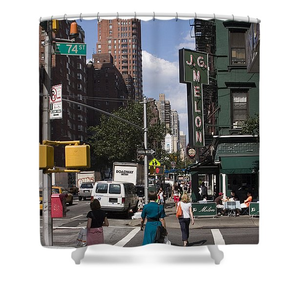 The Manhattan Sophisticate Shower Curtain by Madeline Ellis