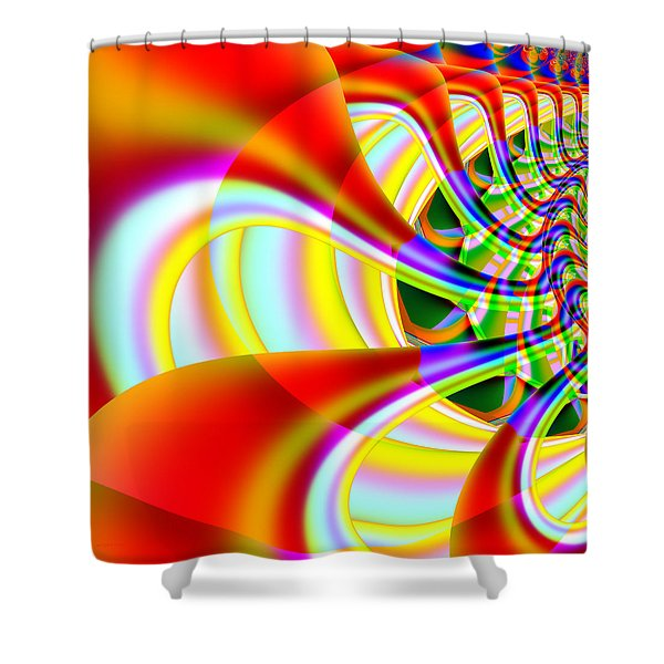 The Marching Band . Square . S14 Shower Curtain by Wingsdomain Art and Photography
