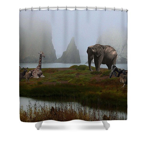 The Menagerie 2 Shower Curtain by Wingsdomain Art and Photography