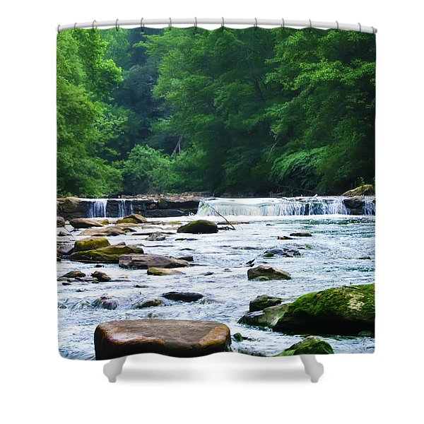 The Mighty Wissahickon Shower Curtain by Bill Cannon