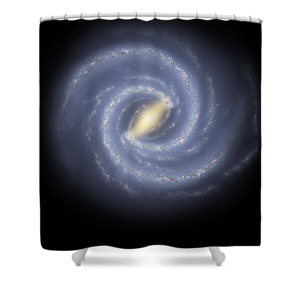 The Milky Way Galaxy Shower Curtain by Stocktrek Images