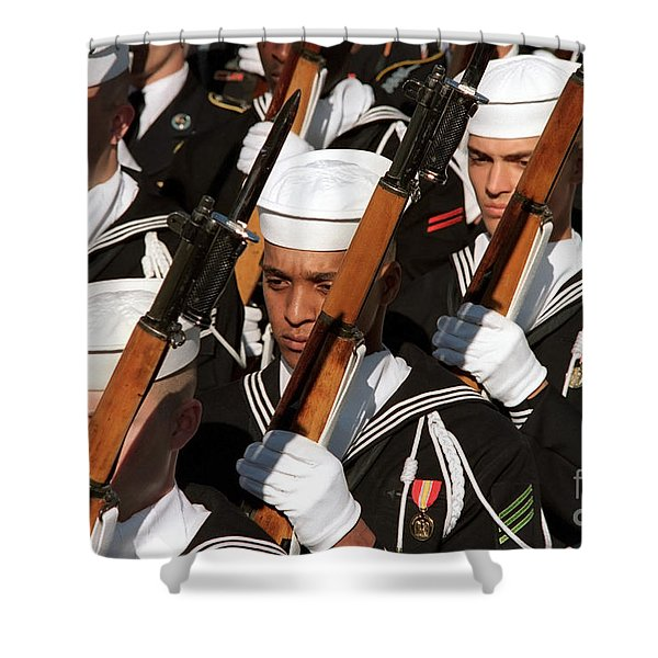 The Navy Ceremonial Honor Guard Shower Curtain by Stocktrek Images