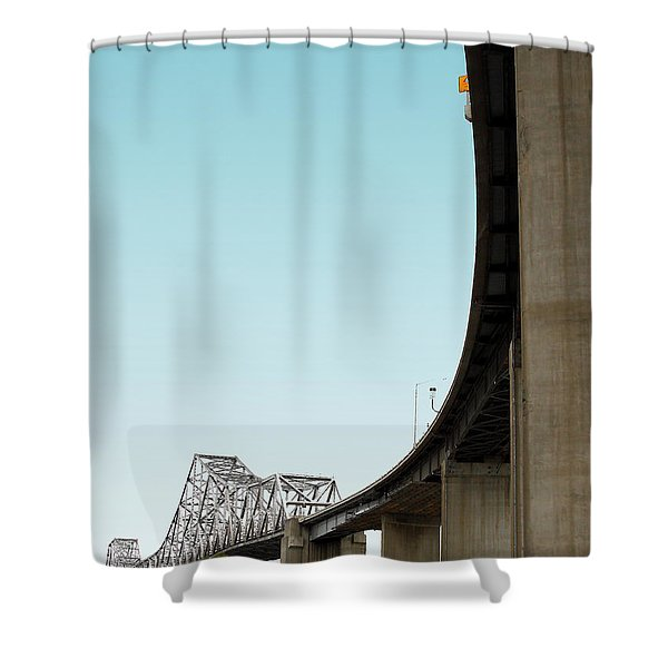 The Old Carquinez Bridge . 7D8832 Shower Curtain by Wingsdomain Art and Photography
