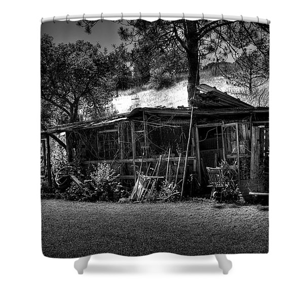 The Old Shed II Shower Curtain by David Patterson