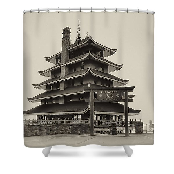 The Pagoda - Reading Pa. Shower Curtain by Bill Cannon