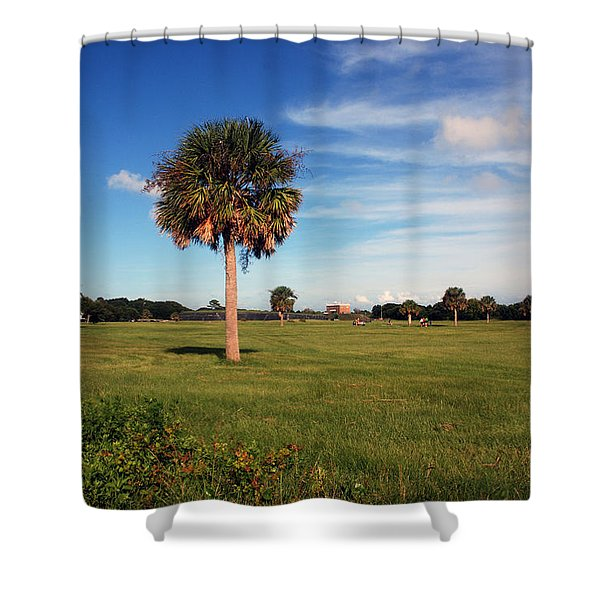 The Palmetto Tree Shower Curtain by Susanne Van Hulst