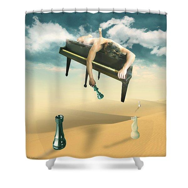 The Pianist Shower Curtain by Mark Ashkenazi