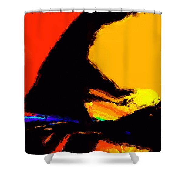 The Pianist Shower Curtain by Richard Rizzo