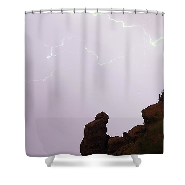 The Praying Monk Phoenix Arizona Shower Curtain by James BO  Insogna