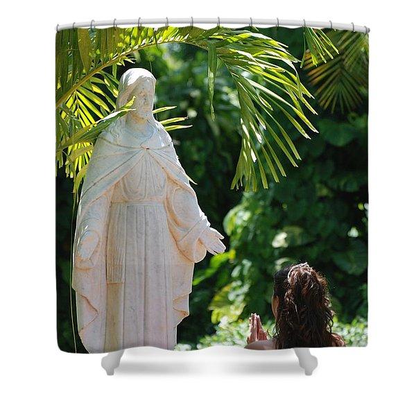 The Praying Princess Shower Curtain by Rob Hans