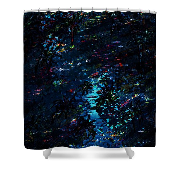 the Reef Shower Curtain by Rachel Christine Nowicki