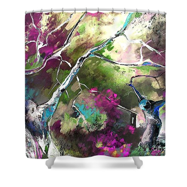The Return of The Prodigal Son Shower Curtain by Miki De Goodaboom