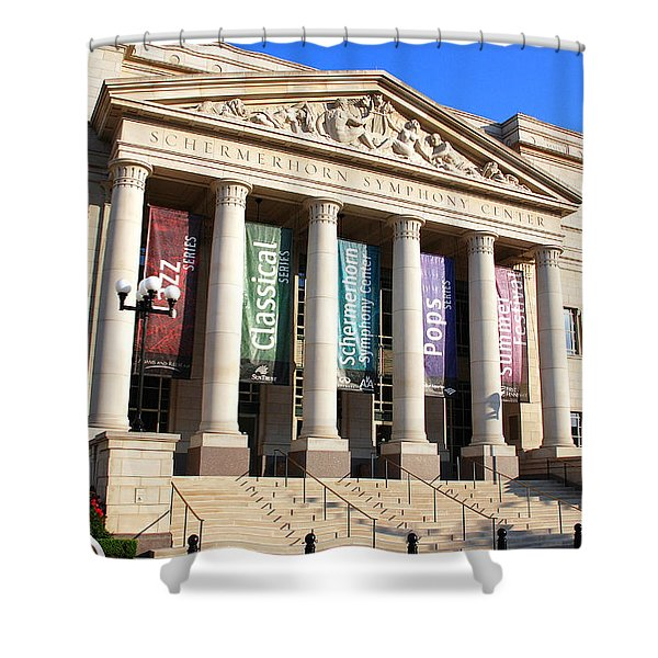 The Schermerhorn Symphony Center Shower Curtain by Susanne Van Hulst