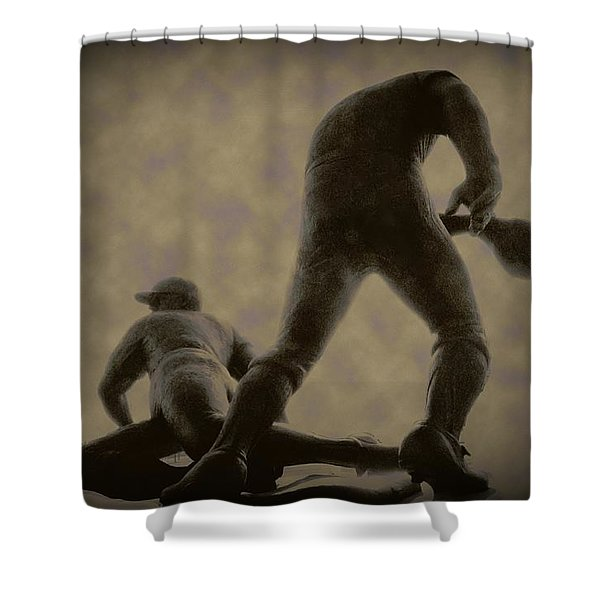 The Slide - Kick Up Some Dust Shower Curtain by Bill Cannon