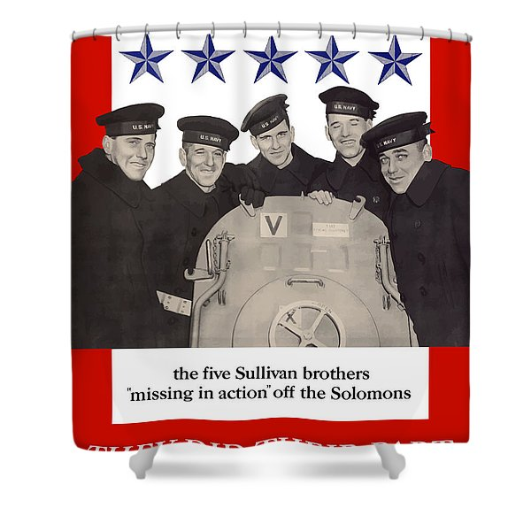 The Sullivan Brothers Shower Curtain by War Is Hell Store