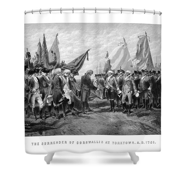 The Surrender Of Cornwallis At Yorktown Shower Curtain by War Is Hell Store