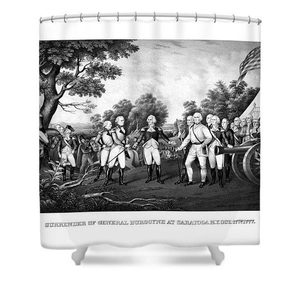 The Surrender of General Burgoyne Shower Curtain by War Is Hell Store