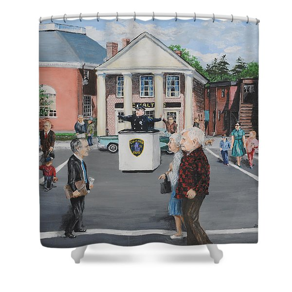 The Traffic Box Shower Curtain by Jack Skinner