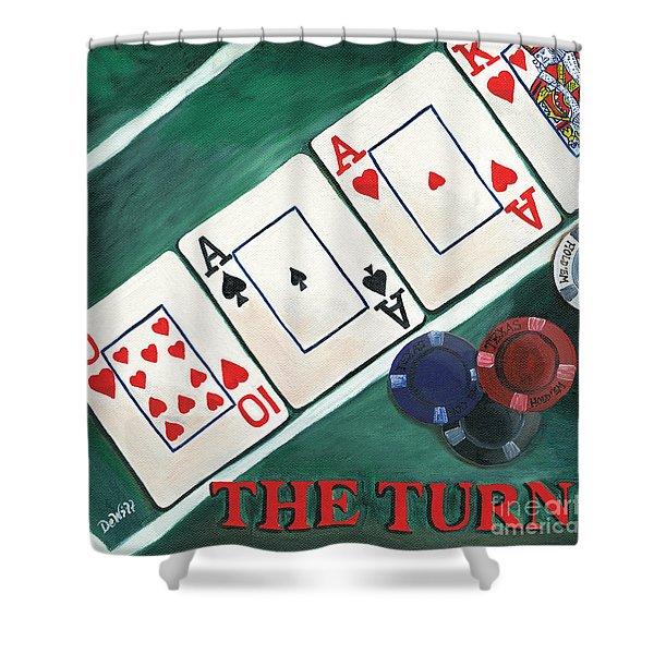 The Turn Shower Curtain by Debbie DeWitt