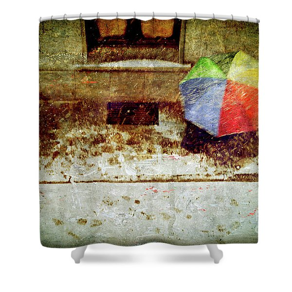 The umbrella Shower Curtain by Silvia Ganora