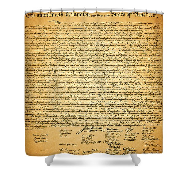 The United States Declaration of Independence Shower Curtain by Wingsdomain Art and Photography