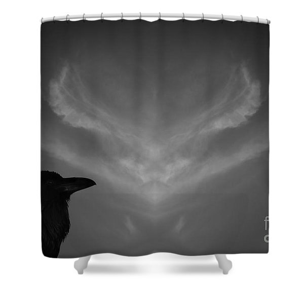 The Visitation Shower Curtain by Dave Gordon