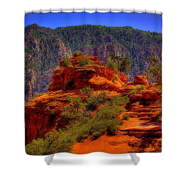 The Wedding Rock in Sedona Shower Curtain by David Patterson