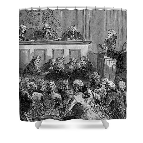 The Zenger Case, 1735 Shower Curtain by Photo Researchers