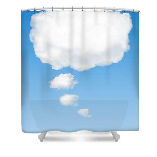 thinking cloud Shower Curtain by Carlos Caetano