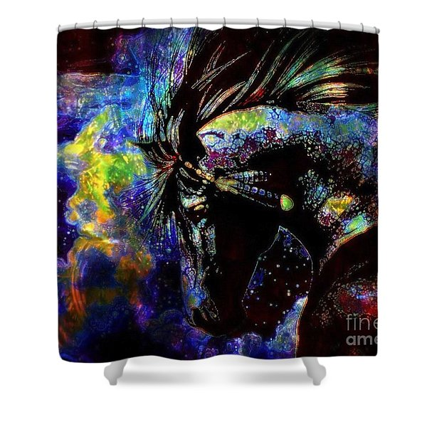 Thundering Hooves Shower Curtain by WBK