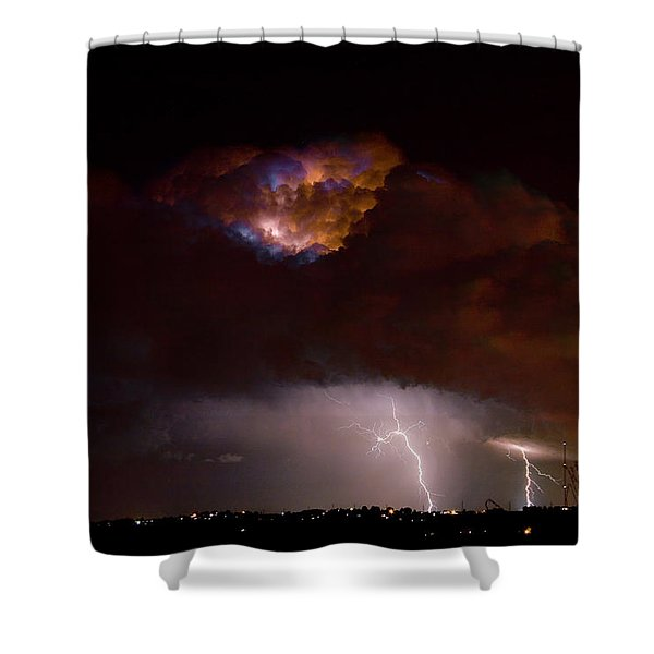 Thunderstorm Boulder County 08-15-10 Shower Curtain by James BO  Insogna