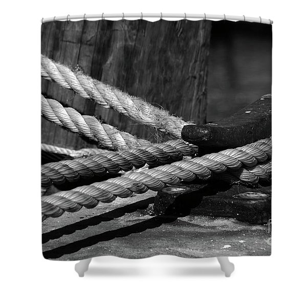 Tied down Shower Curtain by Susanne Van Hulst