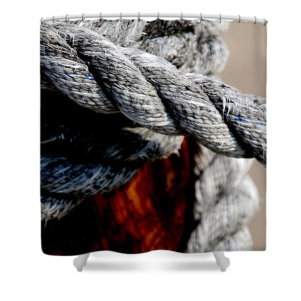 Tied Together Shower Curtain by Susanne Van Hulst