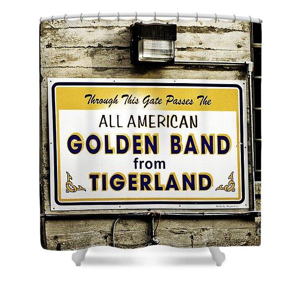Tigerland Band Shower Curtain by Scott Pellegrin