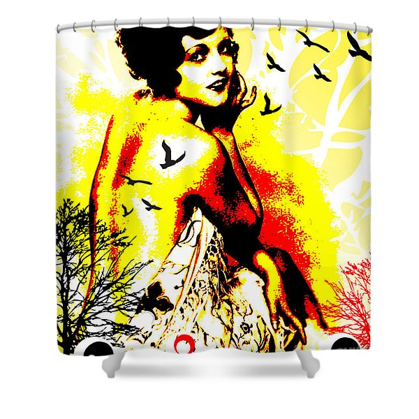 Timeless Flight Shower Curtain by Chris Andruskiewicz