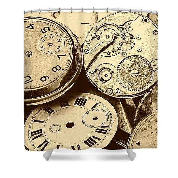 Timepieces Shower Curtain by John Short