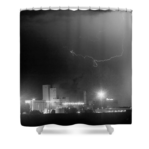 To The Right Budweiser Lightning Strike BW Shower Curtain by James BO  Insogna