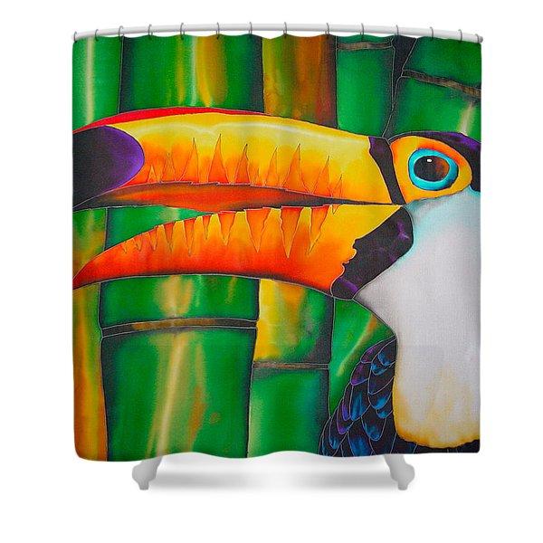 Toco Toucan Shower Curtain by Daniel Jean-Baptiste