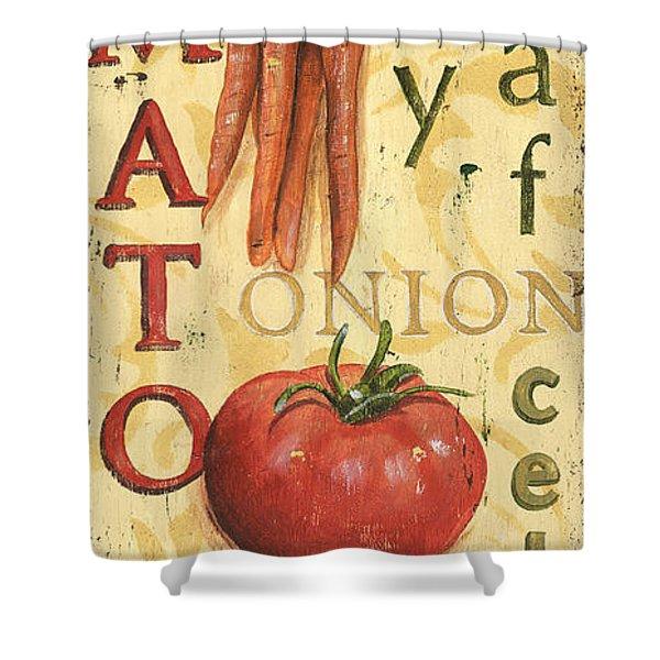 Tomato Soup Shower Curtain by Debbie DeWitt