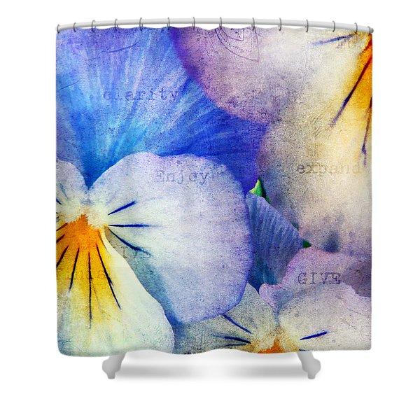 Tones of Blue Shower Curtain by Darren Fisher